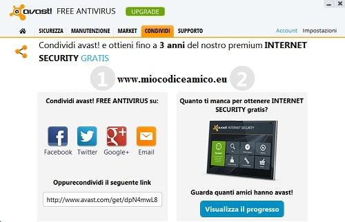 proponi avast antivirus ai tuoi amici