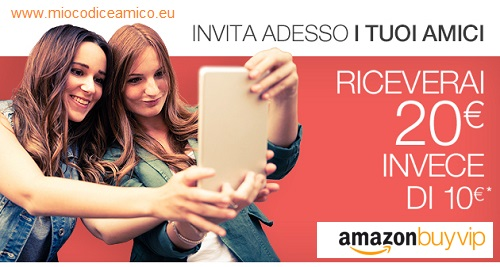 amazon buyvip invita un amico