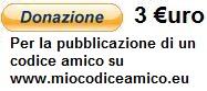 donazione 3 euro a miocodiceamico.eu