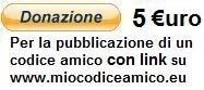 donazione 5 euro a miocodiceamico.eu