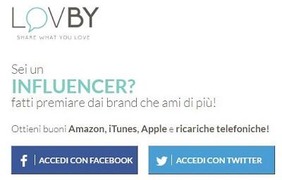 lovby - guadagnare con facebook o twitter