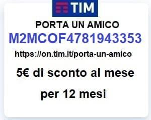 Passa a TIM con il codice amico M2MCOF4781943353