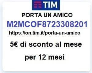 Passa a TIM con il codice amico M2MCOF8723308201