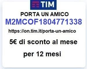 codice invito codice amico TIM M2MCOF1804771338