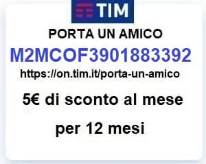 codice invito codice amico TIM M2MCOF3901883392