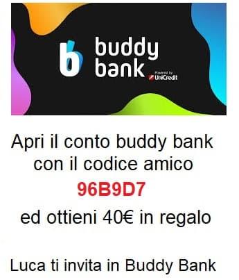 Codice amico BuddyBank 96B9D7